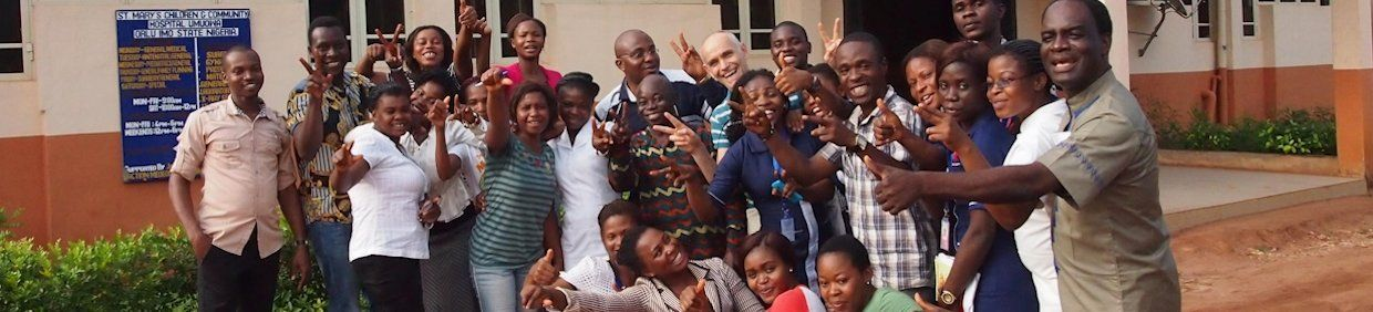 After the user training at St. Mary's children and Community Hospital, Umuowa, Nigeria. After the examination the tension is gone. Everybody enjoys!