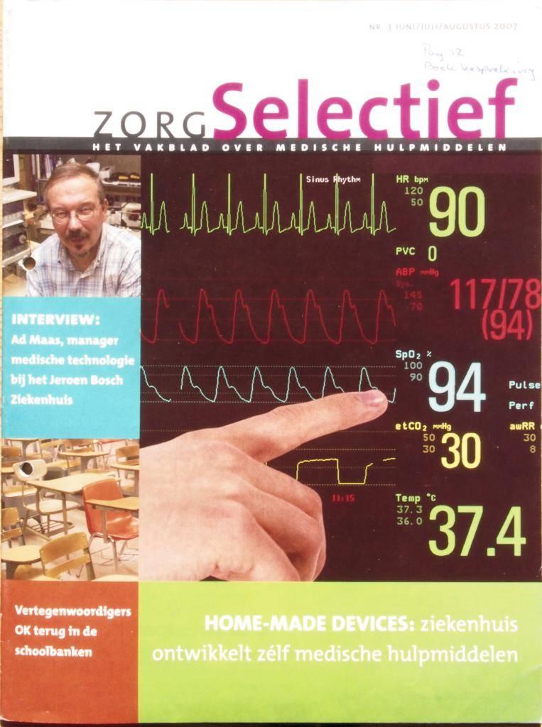 Artikel ZorgSelectief 2007-08 Omslag. Boekbespreking: Nieuw Nederlands Sterilisatieboek