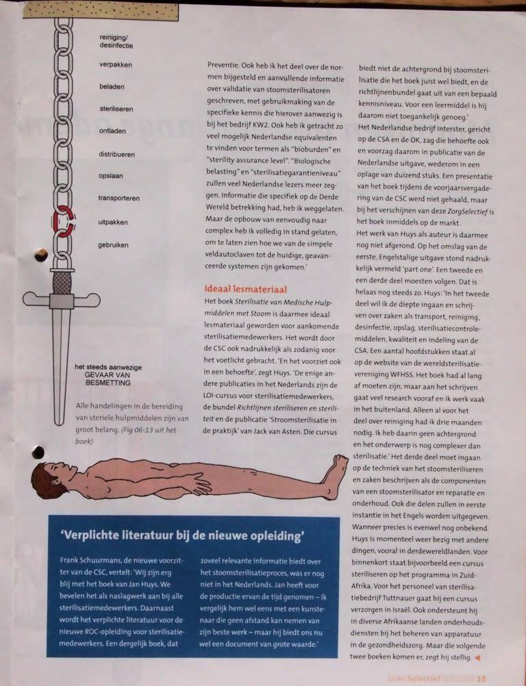 Artikel ZorgSelectief 2007-08 P15. Boekbespreking: Nieuw Nederlands Sterilisatieboek