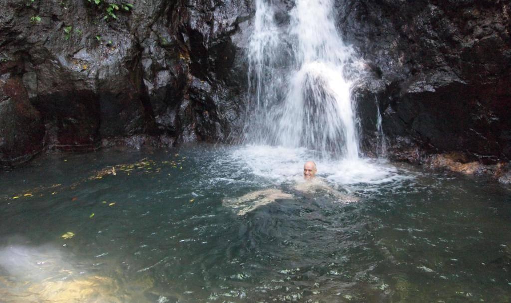 PJ Los Banos Mount Makiling 20140422 Walk With Joel Palacpac Waterfall Falls Jan In Waterfall Pool2