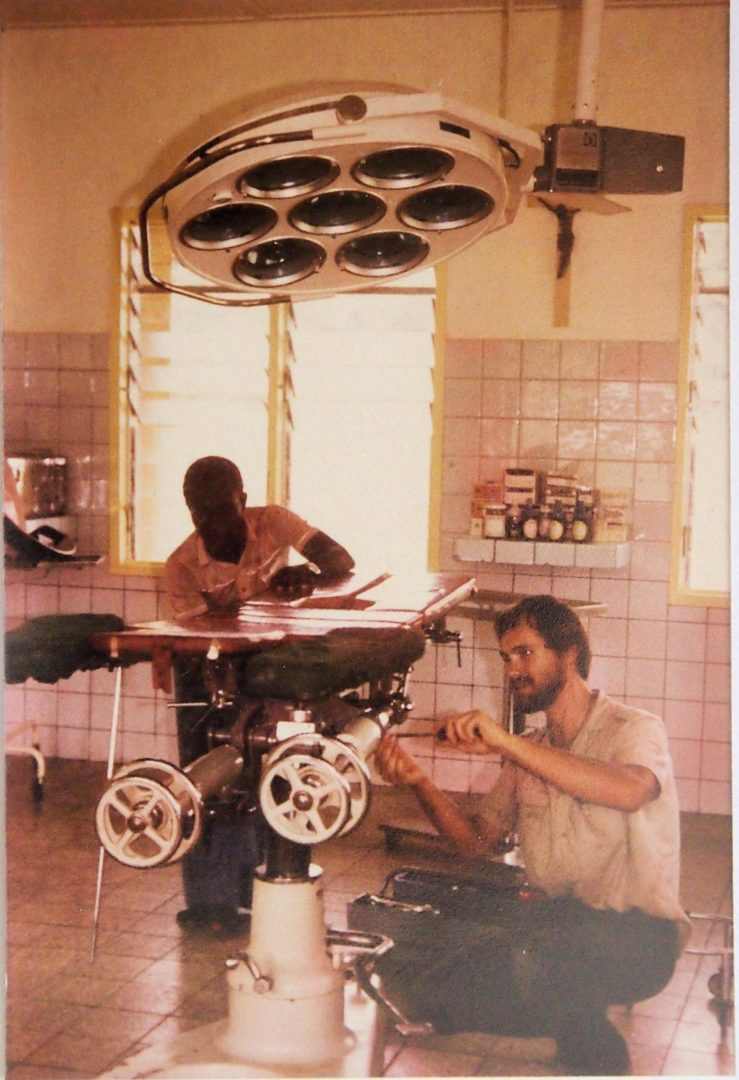 GH-Breman Asikuma Hospital 1984 HES Operating Theatre Repair OR Table