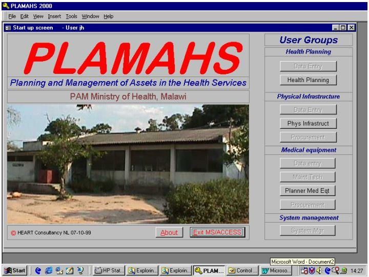 MWI-LilongweMoH19991007PLAMAS2000Startupscreen