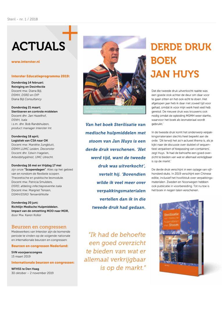 Article Steril 20181130 Frank Van Wijck Derde Druk Boek Jan Huys